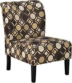 Signature Design by Ashley - Tibbee Modern Geometric Design Accent Chair, Brown