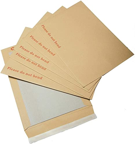Pack of 10 Triplast 457 x 324 mm A3 C3 Manilla Hard Board Backed Envelopes
