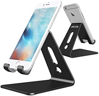 OMOTON Desktop Cell Phone Stand/Tablet Stand, Advanced 4mm Thickness Aluminum Stand Holder Mobile Phone Tablet (up to 10.1...