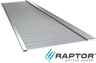 Raptor Gutter Guard | Stainless Steel Micro-Mesh, Contractor-Grade, DIY Gutter Cover. Fits Any Roof or Gutter Type – 48ft to a Box. Fits a Standard 5