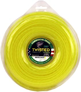 Maxpower 338813 Premium Twisted Trimmer Line .080-Inch Twisted Trimmer Line 280-Foot Length