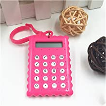 $42 » Calculator 1pc Student Mini Electronic Calculator Candy Color Calculating Office Supplies Gift Super Small (Color : D)