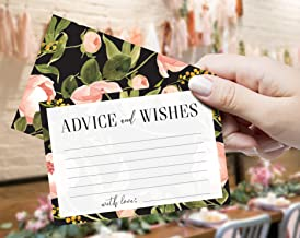 Advice Cards & Wishes - Set of 40 - Words of Wisdom for Marriage and Weddings, Bridal and Baby Shower, Graduation, Retirement Party and Birthdays, Parents to be – Game and Alternative Guestbook