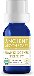 Frankincense Trinity Organic Essential Oil from Ancient Apothecary, 5 mL - 100% Pure and Therapeutic Grade