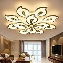 Modern LED Ceiling Lamp for Living Room, 12 Head Acrylic Ceiling Lights Flush Mount Ceiling Lighting Fixture for Bedroom D...