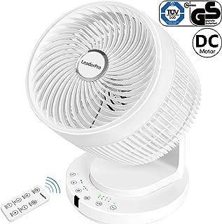 LeaderPro Ventilador Turbo Potente 3D, Circulación Ventilador de Aire para casa y Oficina 35W/ 4 aspas/ 8 velocidades Color Blanco