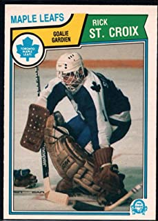 1983-84 O-Pee-Chee Hockey Card #340 Rick St. Croix Toronto Maple Leafs Official OPC NHL Trading Card