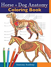 Horse + Dog Anatomy Coloring Book: 2-in-1 Compilation   Incredibly Detailed Self-Test Equine & Canine Anatomy Color workbo...