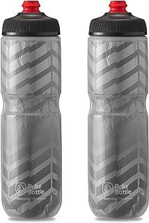 Polar Bottle Breakaway Insulated Bike Water Bottle 2-Pack - BPA Free, Cycling & Sports Squeeze Bottle (Bolt Charcoal 24oz)...