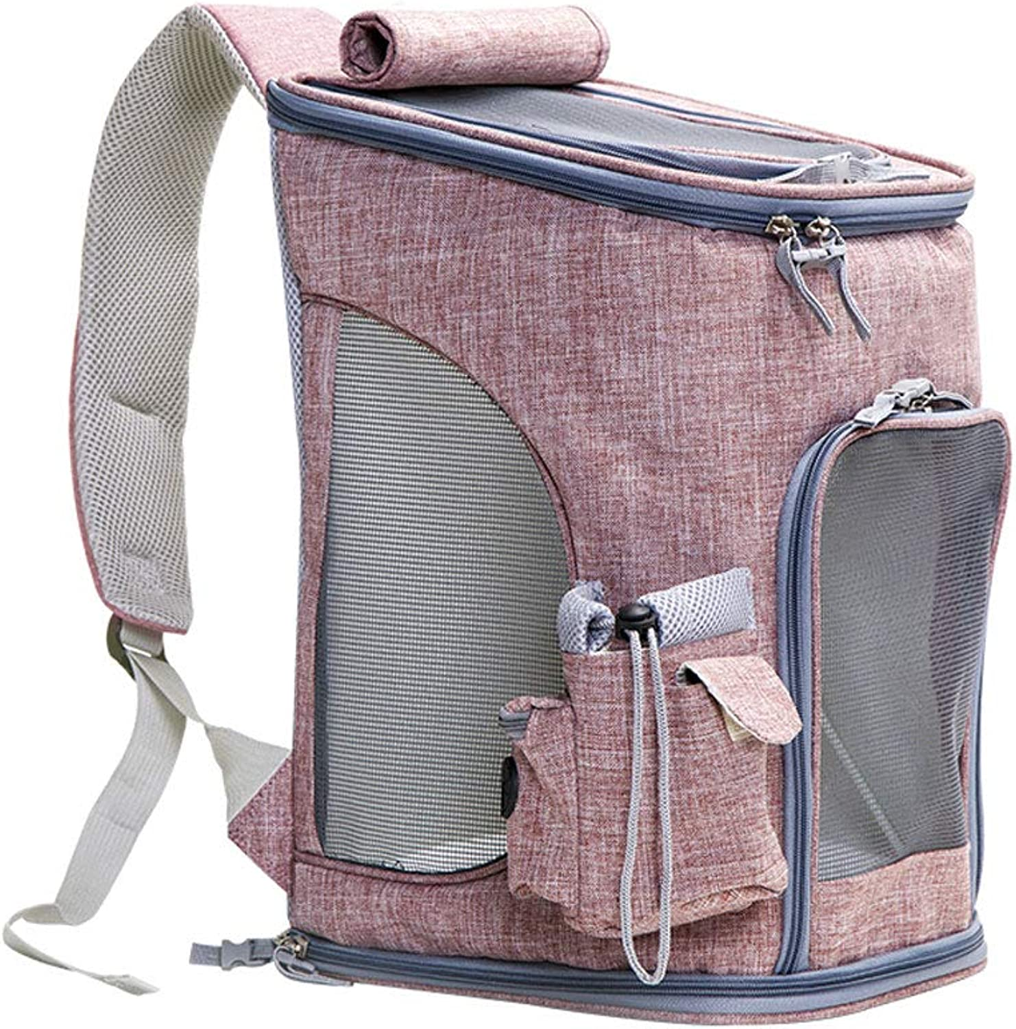 NYJ Pet Backpack Dog Out Bag Breathable Cat Bag Out Portable Folding Backpack (color   A)