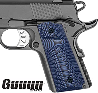 Guuun G10 Grips for 1911 Compact/Officer, Sunburst Texture 6 Color Options