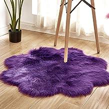 Home Imitation Wool Rug Bedroom Bedside Living Room Sofa Floor Mat Bay Window Table and Chair Mat Non-Slip Carpet 90Cm,12