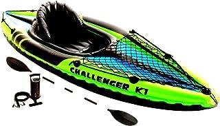 Skroutz Kayak Balsa de agua para pesca 1 persona, deportiva, bote inflable, lago, río, deportes acuáticos, remos y bomba