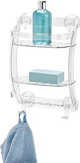 InterDesign Metal Vanity Tray, Non-Slip Guest Board for Bathroom, Kitchen, Office, Craft Room 8 1 x Shower Caddy White 53820