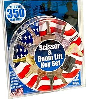 Heavy Equipment Scissor Lift Key Set and Boom Lift Key Set (12 Keys) Fits Over 350 Machines
