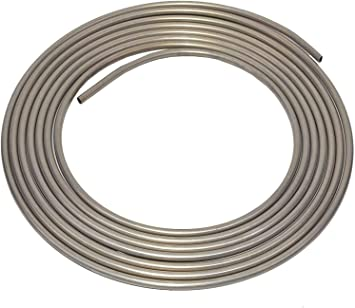 A-Team Performance 3003-Grade Aluminum Coiled Tubing Fuel Line Tube, 3/8 Inch, Diameter 25-Feet Roll.035-inch Wall Thickness. Compatible with Larger Tube Diameter: image