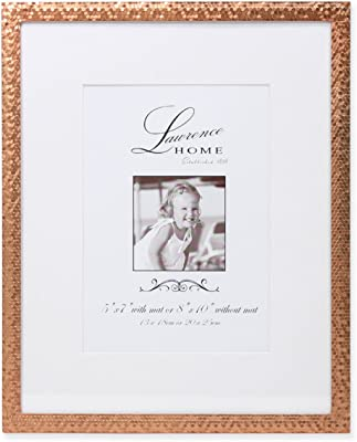 Amazoncom Lawrence Frames Rose Shimmer Metal Picture Frame 5 By