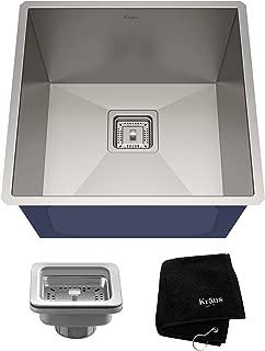 KRAUS Pax 18 1/2-inch 18 Gauge Undermount Single Bowl Stainless Steel Kitchen Sink, KHU19