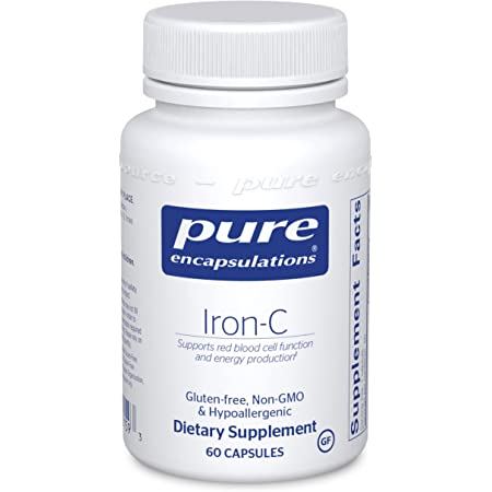 Pure Encapsulations Iron-C | Iron and Vitamin C Supplement to Support Muscle Function, Red Blood Cell Function, and Energy* | 60 Capsules