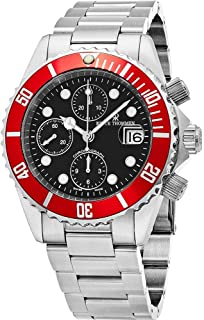 Revue Thommen Diver Mens Black Face 42MM Chronograph Date Stainless Steel Mens Swiss Automatic Dive Watch 17571.6136