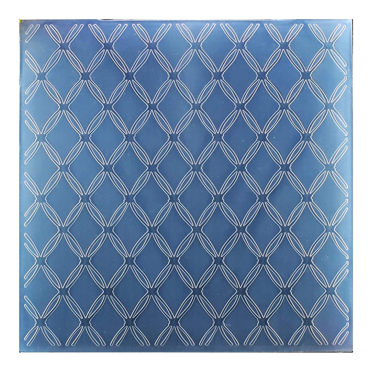 Kwan Crafts Large Size Mesh Plastic Embossing Folders for Card Making Scrapbooking and Other Paper Crafts, 19.7x19.7cm