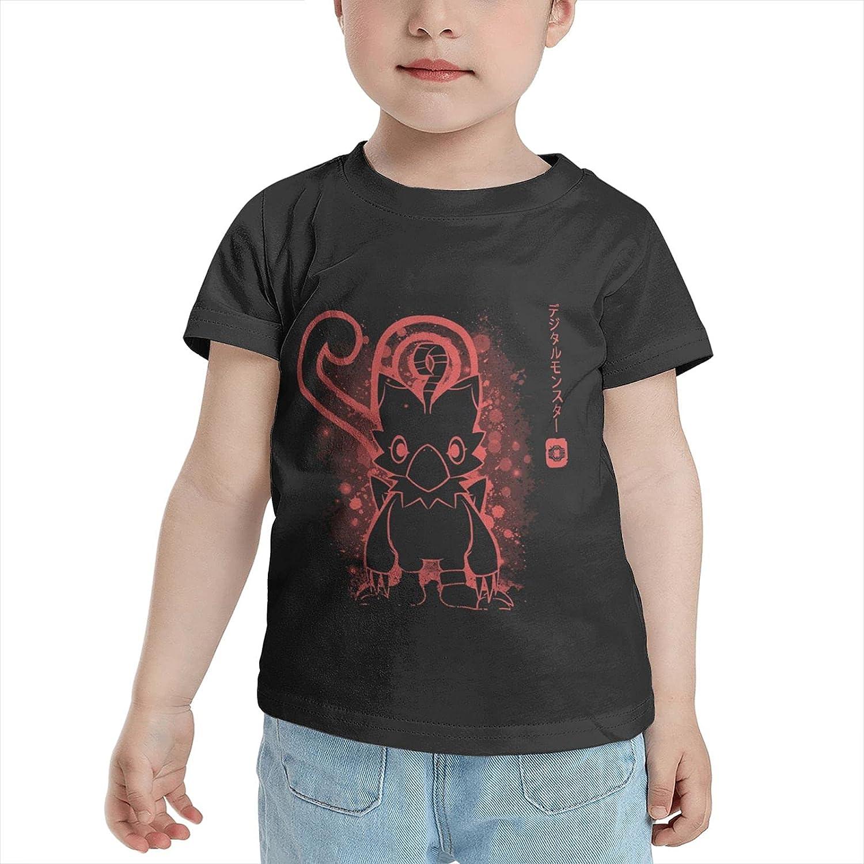 Digimon Courage - Biyomon T Shirt Boy Girls Soft Tees Cotton T-Shirt Short Sleeve Top for 2-6 Year Kids