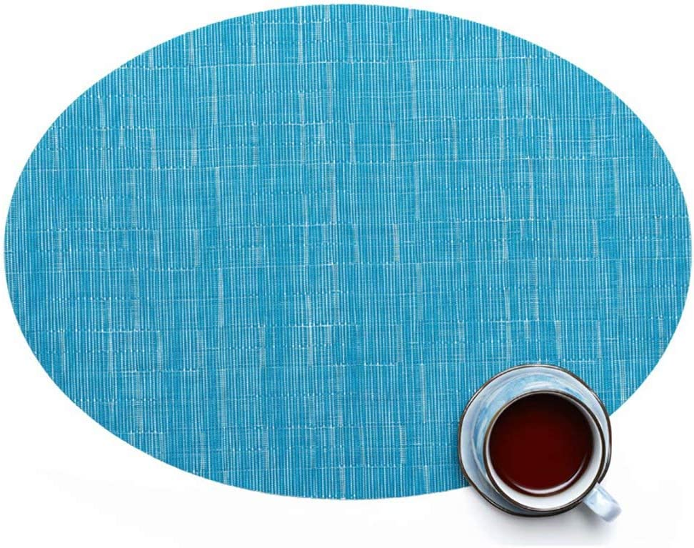 Dallas Mall Ranking TOP14 Placemats Imitation Bamboo Oval Table Acc PVC Kitchen Woven Mat