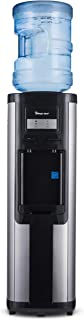 Magic Chef Cooler Dispenser Top Loading, Hot and Cold Water with Safety Lock, BPA-Free, MCWD30TS, Stainless Steel