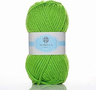 Isabella Lana Ovillos de Lanas Hilo Acrílico para Crochet y Tejer DIY (10x100g) (Verde 17, Gruesa)