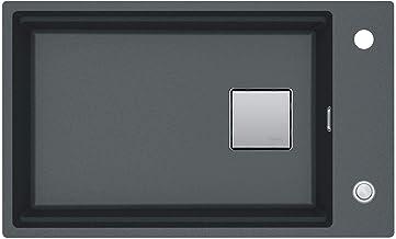Franke kubus 2 KNG 110-62 grafiet - 11591 Granitsp le Excenterbed