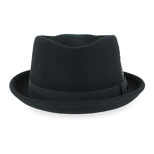 Belfry Crushable Porkpie Fedora Hat Men s Vintage Style 100% Pure Wool in  Black Brown Grey 6ae2b7f0c53d