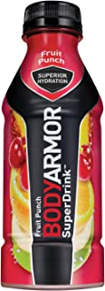 BODYARMOR Sports Drink Sports Beverage, Fruit Punch, Natural Flavors With Vitamins, Potassium-Packed Electrolytes, No Preservatives, Perfect For Athletes, 16 Fl Oz (Pack of 12)