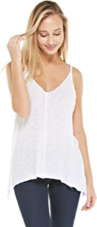 Alexander + David Womens Slub Burnout Cami Tank Top Casual Twist Loose Top Blouse