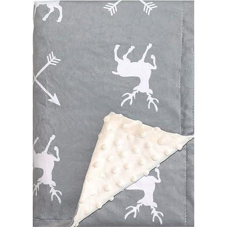 Deer Baby Blanket Boys Soft Minky Baby Blanket Fleece Baby Girl Security Fox Blanket Plush Dot Toddler Baby Newborn Blanket Woodland for Nursery Stroller Crib Receiving Blanket Infant Unisex (Deer)