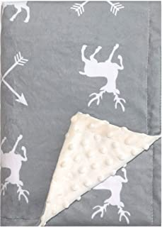 """Minky Baby Blanket 30"""" x 40"""" - Deer - Soft Swaddle Blanket for Newborns and Toddlers - Best for Boy or Girl Crib Bedding, ..."""