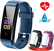 Fitness Tracker Hr, kids Activity Tracker Watch Android With Heart Rate Monitor, Waterproof Fit tracker Watch With Sleep Monitor Smart Bracelet with Calorie Counter Pedometer Watch for Women men …