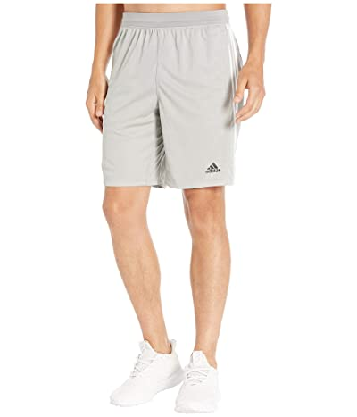adidas 4Kraft 9 3-Stripe Shorts (Medium Grey Heather/Solid Grey/Heather) Men