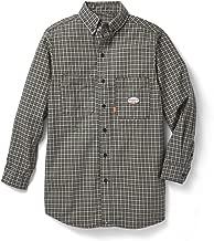 Rasco FR Green Plaid Dress Shirt 7.5 oz