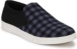 HEEDERIN Men's Blue Black Mesh Slip on Perfect Decent Look Sneaker 8 UK