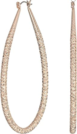3 Textured Wire Extra Large Hoop Earrings