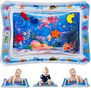 Flow.month Inflatable Tummy Time Premium Water Play Mat Infants Toddlers Newborns Toys for 3 6 9 Months is The Perfect Fun Belly Time Play Activity Center for Your Baby's Stimulation Growth 26