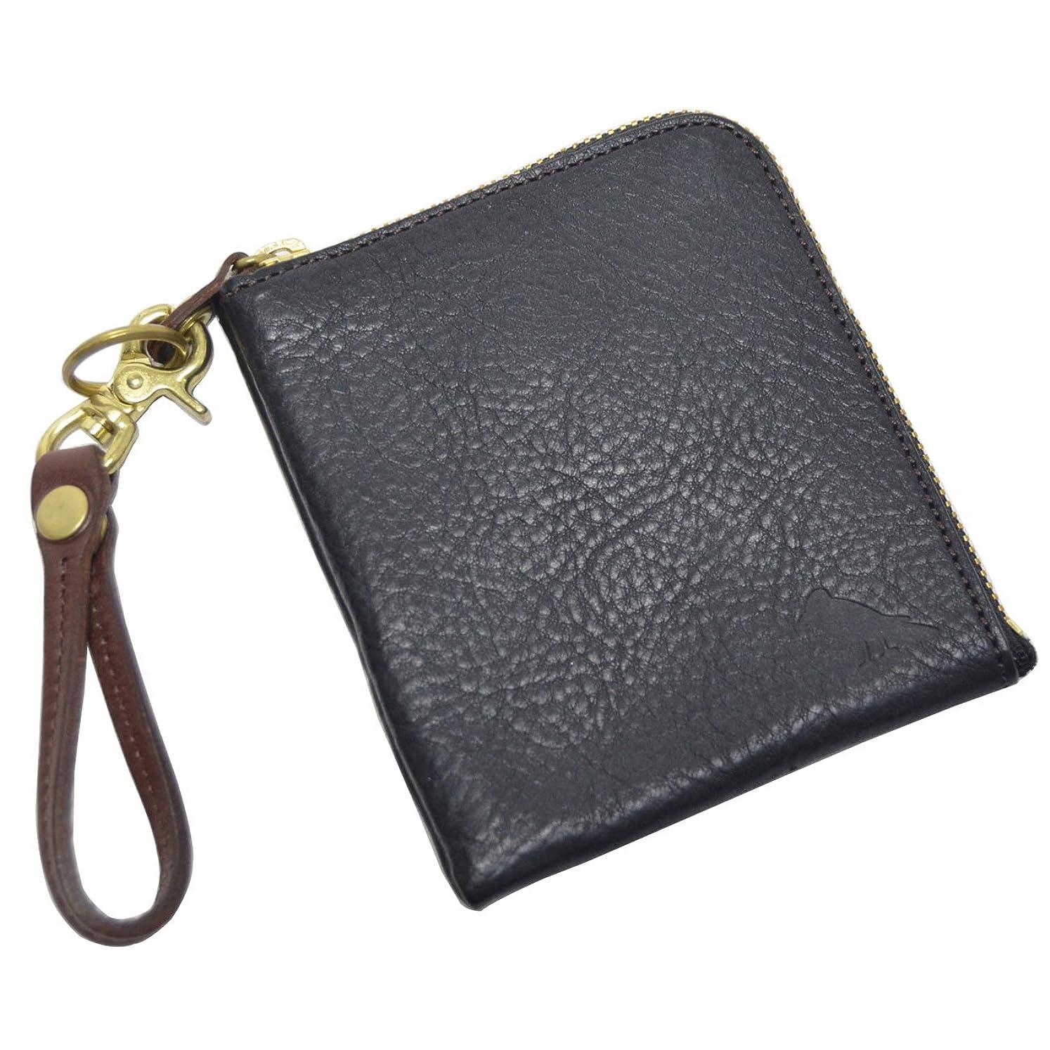 援助全体団結する(エスペラント) esperanto レザー 財布 Lジップ ミネルバボックス ミニウォレット ESP-6131 ブラック