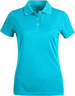 Corna UPF 50+ Sun UV Protection Moisture Wicking Performance Golf Polo T Shirts for Women Short Sleeve