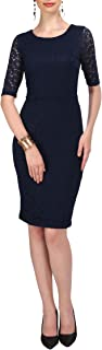 Women's French Lace Shift Dress Vintage 1950s Wiggle Pencil Skirt Retro Cocktail Dresses
