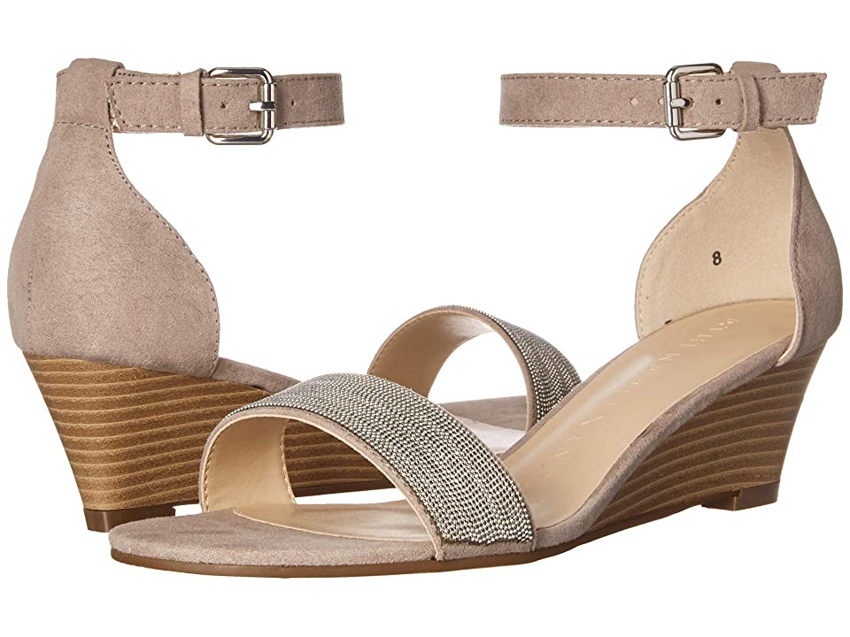 Athena Alexander Enfield Sandal Wedge (Taupe Suede) Women