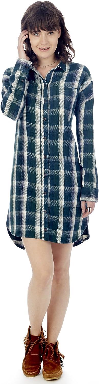 Alternative Womens Timberwood Yarn Dye Flannel Shirt Dress  62247VF