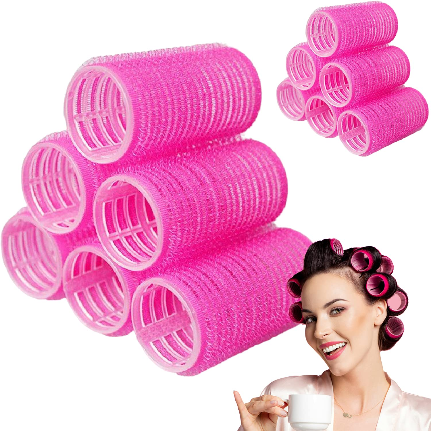 Hair Rollers National 5 ☆ very popular uniform free shipping 12 Pack Self Curlers DIY Salon Hairdressing Grip