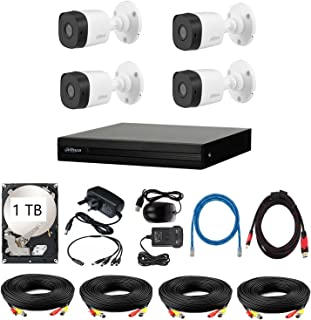 1080p HD Security Camera 4 Outdoor Camera DAHUA 4 Channel 1TB CCTV Security System Kit P1 / Night Vision/Waterproof/iOS An...