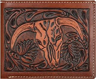 Custom 3D Belt Company Origional Long Rodeo Checkbook Brown amd Tan Cow Skull Wallet