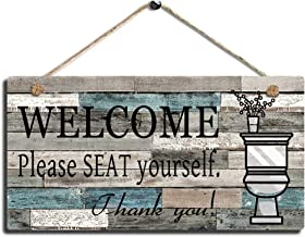 SAC SMARTEN ARTS Printed Wood Plaque Sign Wall Hanging Welcome Sign Please Seat Yourself..